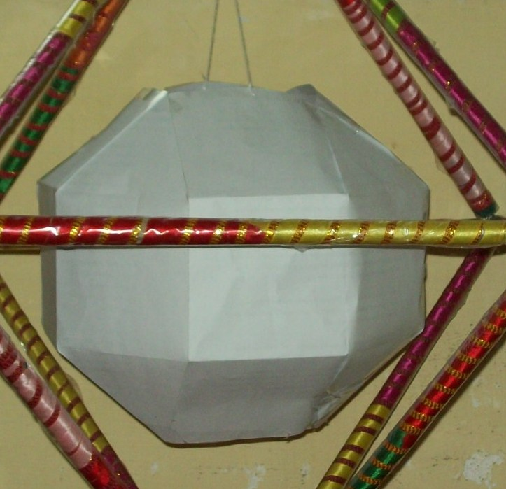 Rhombicuboctahedron made of plain paper